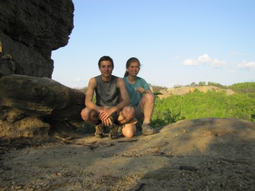 At Red River Gorge on a Pre-AT Hike