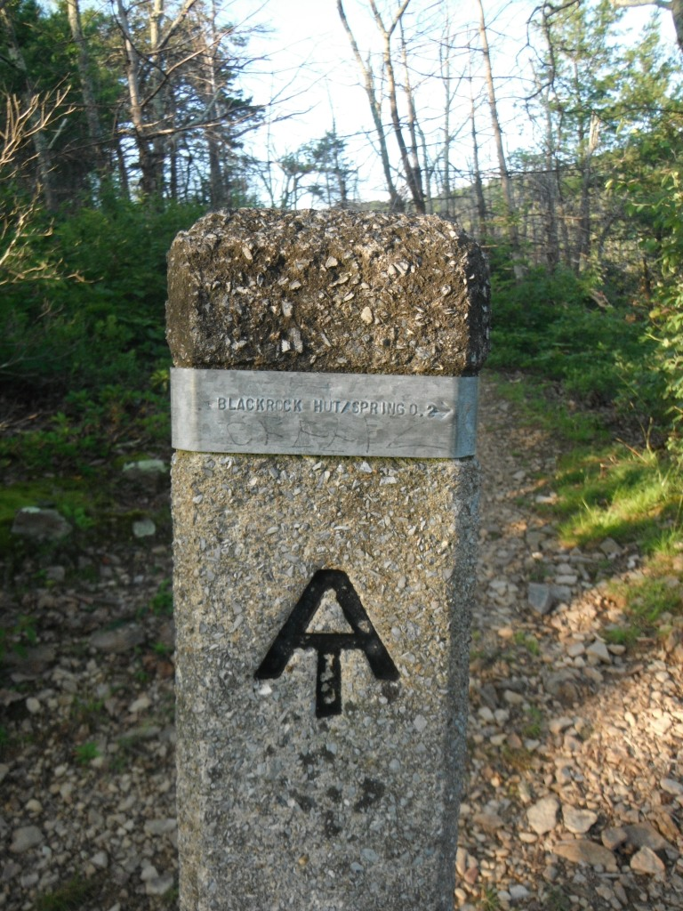 A Shenandoah trail post