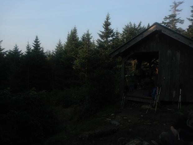 Dusk falls on a shelter