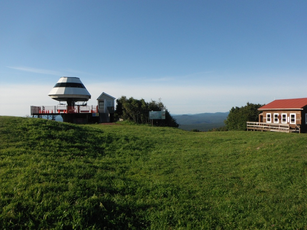 Ski lifts in the summertime
