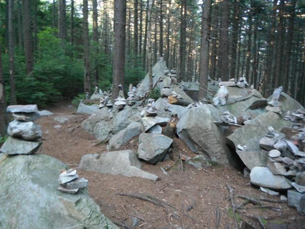 Random, beautiful trailside cairns