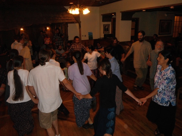 Dancing in worship with the Twelve Tribes