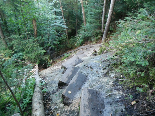 The unbelievably steep Beaver Brook Trail
