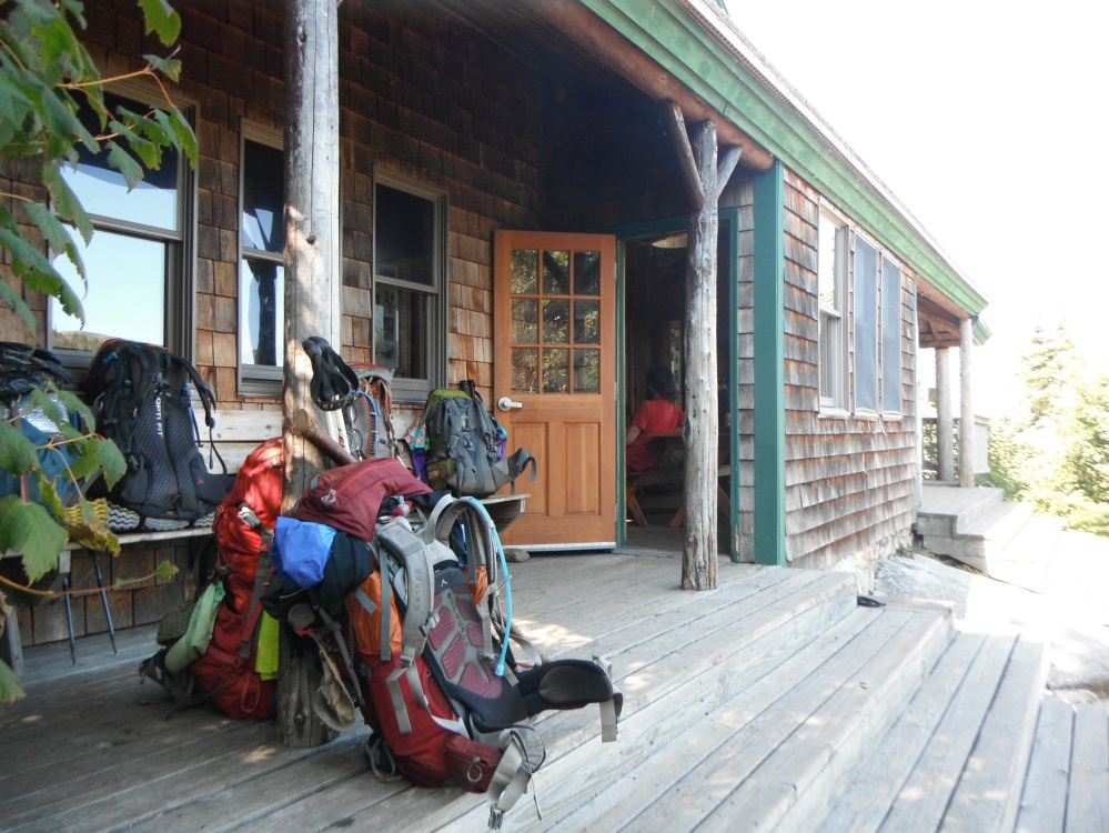 Packs outside Zealand Hut