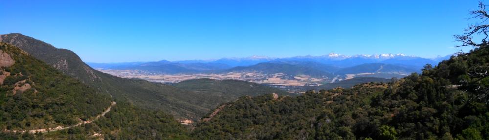 Panorama from a vista near San Juan de la Pena