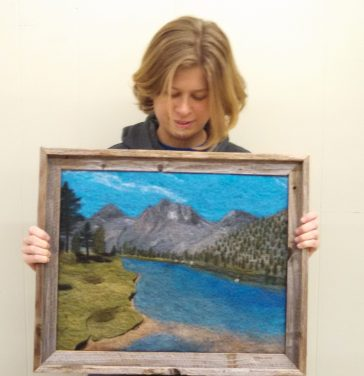 Kris and a PCT felt painting