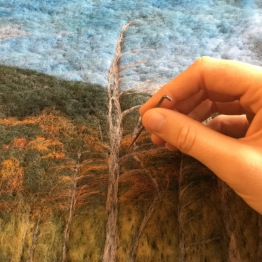 Felting wind-blown trees