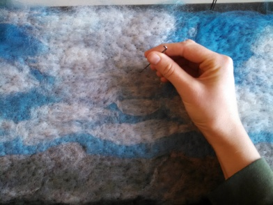 Felting clouds