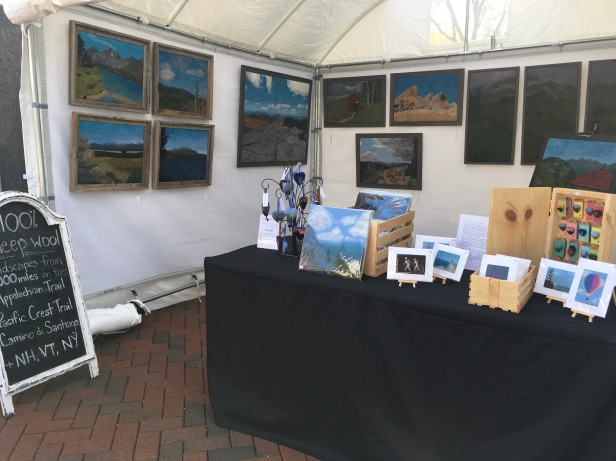 Booth at Art on the Commons